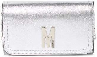 Moschino Metallic Flap Crossbody Bag