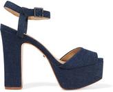 Schutz Denim platform sandals