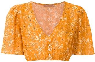 Clube Bossa Runa printed crop blouse