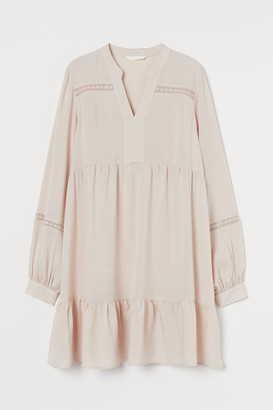 H&M MAMA Lace-trimmed Tunic - Beige