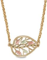 "Zales Black Hills Gold Diamond-Cut Leaf Necklace - 16"""