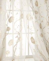 """Creative Threads Each 108""""L Regal Embroidered Floral Sheer"""
