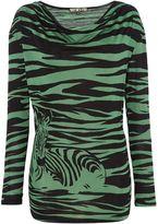 Biba Cowl neck zebra print long sleeve t-shirt