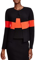 Armani Collezioni Color-Blocked Wool Jacket