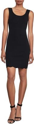 BCBGMAXAZRIA Scallop Hem Knit Dress