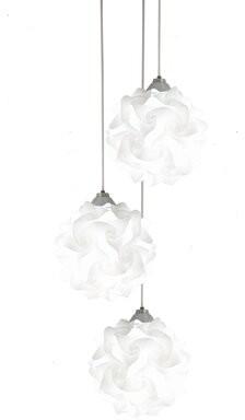 Orren Ellis Beri 3 - Light Cluster Geometric Pendant Lamp Holder Type: E26 - Default
