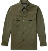 Rag & Bone Heath Slub Cotton Shirt Jacket - Army green