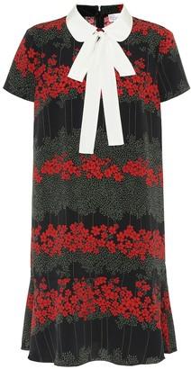RED Valentino Floral crApe minidress