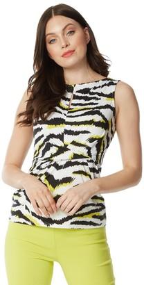 M&Co Roman Originals twist waist animal print top