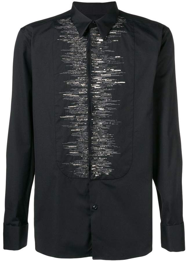 Givenchy beaded collared shirt