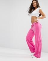 Juicy Couture Bling Malibu Velour Jogging Bottom
