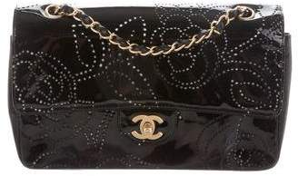 Chanel Perforated Camellia Flap Bag