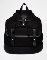 Pieces Double Pocket Backpack in Canvas