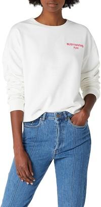 Mavi Jeans Women's Embroidery Sweatshirt T-Shirt