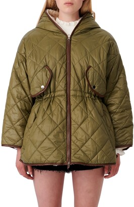 Maje Reversible Quilted & Faux Shearling Jacket