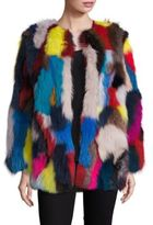 Jocelyn Multicolor Fox Fur Coat