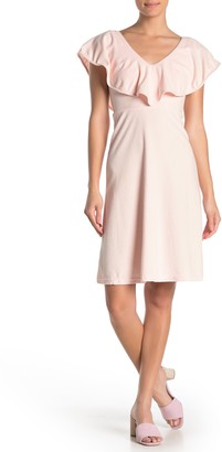 FRNCH Ruffle Popover Terry Cloth Dress