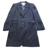 Saint Laurent Navy Wool Coat