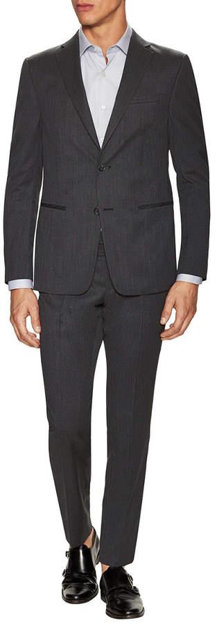 Ermenegildo Zegna Wool Sharkskin Notch Lapel Suit