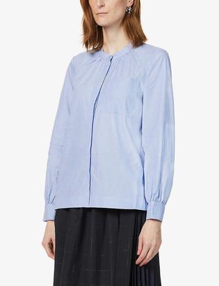 Whistles Striped cotton-poplin shirt
