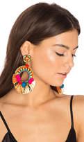 Ranjana Khan Raffia Hoop Earring