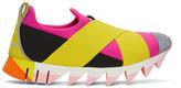 Dolce & Gabbana Pink & Yellow Ibiza Slip-On Sneakers
