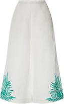 Mara Hoffman Leaf Embroidered High Waisted Culottes