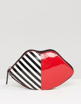 Lulu Guinness Lip Foldaway Shopper Bag