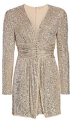 Ramy Brook Women's Jenny Beaded Sequin Mini Dress - Size 0