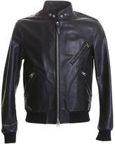 Tom Ford Black Leather Bomber Jacket