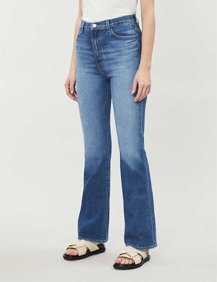 J Brand 1219 Flared High-Rise Stretch-Denim Jeans