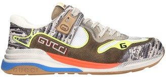 Gucci Ultrapace Sneakers In Brown Synthetic Fibers