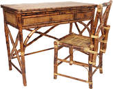 One Kings Lane Kendall English Desk & Chair - Tortoise