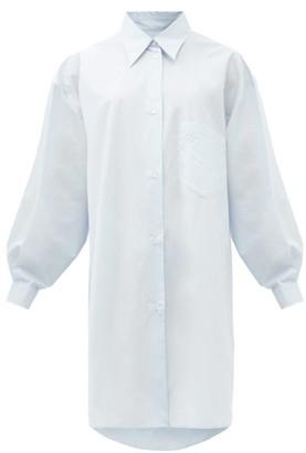 MM6 MAISON MARGIELA Oversized Cotton-poplin Shirt Dress - Light Blue