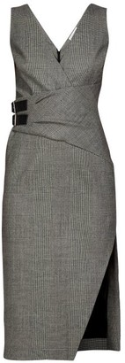 Altuzarra Lazarus Prince Of Wales-checked Wool-blend Dress - Grey Multi