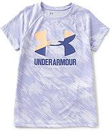 Under Armour Big Girls 7-16 Novelty Big Logo Short-Sleeve Tee