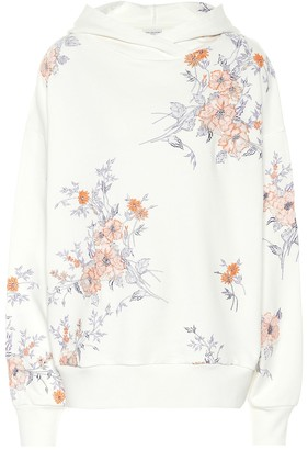 Dries Van Noten Floral embroidered cotton hoodie