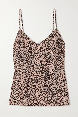 Equipment Layla Leopard-print Satin Camisole - Pink