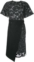GOEN.J burn-out lace wrap dress