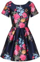 *Chi Chi London Petite Blue Floral Print Mini Dress