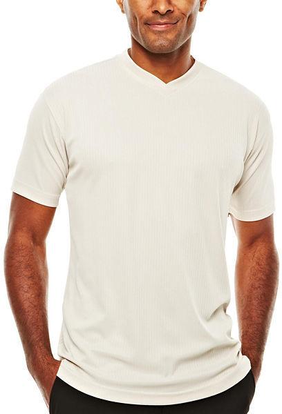 JCPenney D'Amante Short-Sleeve V-Neck Knit Shirt