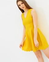 Karen Millen Jacquard Fit-and-Flare Dress