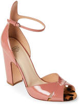 Francesco Russo Pink Patent Leather Sandals