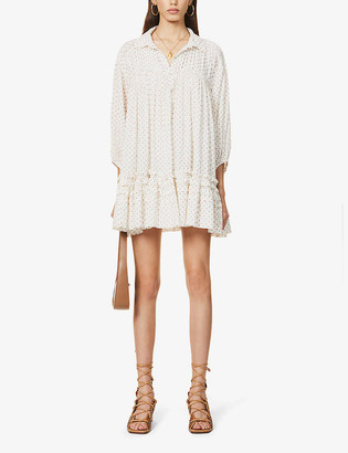 Free People Full Swing cotton mini dress