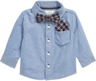 Peek Aren't You Curious Bow Tie Button-Up Shirt