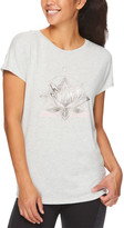 Gaiam Women's Tee Shirts GREY - Gray Heather Hailey Lotus Intention Tee - Women