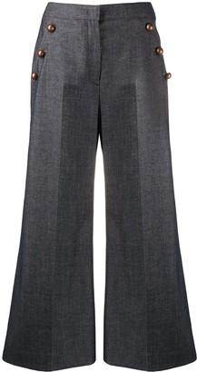Pt01 Wide-Leg Denim Trousers