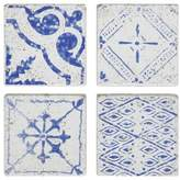 CREATIVE CO-OP Set of 4 Cement Tile Coasters