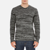 YMC Men's Wickerman Crew Neck Jumper Charcoal