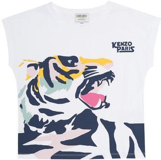 Kenzo Kids Cotton tiger print T-shirt